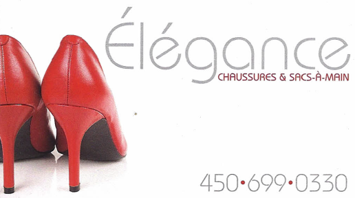Ccarte d'affaire du commerce Élégance chaussures.