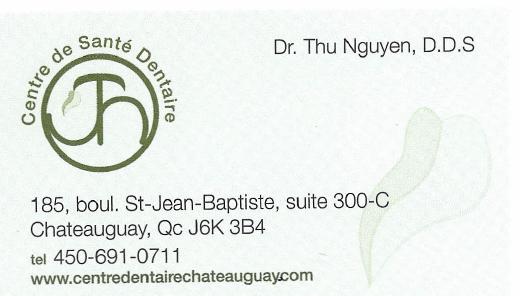 Carte d'affaire du centre de santé dentaire Nguyen.