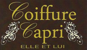 Carte d'affaire du salon de coiffure capri.