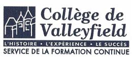 Carte d'affaire du centre d'études du collège de Valleyfield.