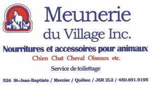 Carte d'affaire de la meunerie du village.