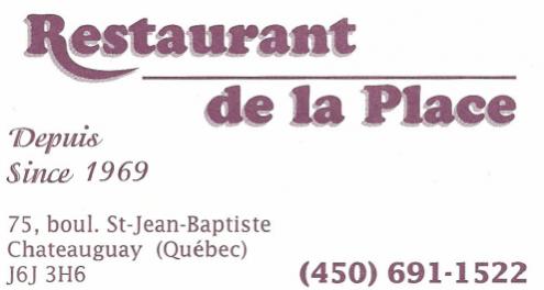 Carte d'affaire du restaurant de la place.