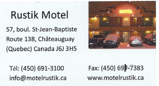 Carte d'affaire du motel rustik.