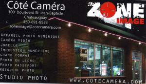 Carte d'affaire du commerce zone image.