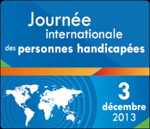Affiche de la journée internationale des personnes handicapées.