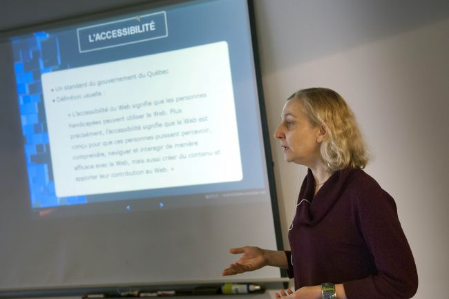 Anne Pelletier présente le Guide d'accessibilité du RUTAC