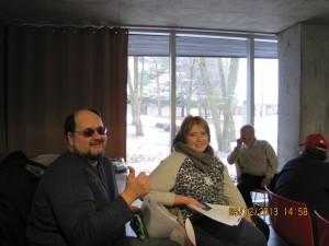 M. Guy Bouchard, membre du RUTAC et Claudie Deschamps, éducatrice spécialisée au CMR, Cliquer pour voir en grand et pour avoir accès à une description