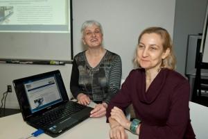 Anne Pelletier, conceptrice web et Huguette Roussel, présidente du RUTAC, Cliquer pour voir en grand et pour avoir accès à une description