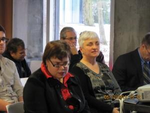 À l'avant: Sylvie Pelletier et Huguette Roussel, Jean Lizotte, à l'arrière PHillippe P Monette, Jacques Hétu, Marcel Deschamps, Cliquer pour voir en grand et pour avoir accès à une description