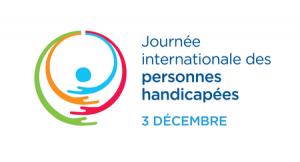 Logo de l'ONU pour la journée internationale des personnes handicapées.